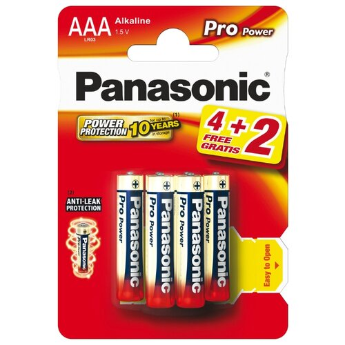 Фото - Батарейка Panasonic Pro Power AAA/LR03 6 шт panasonic аlkaline power aaa lr03 2 шт