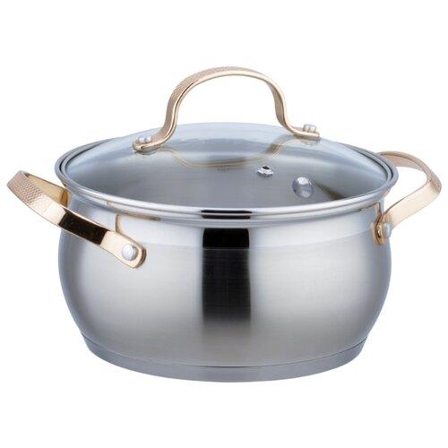 Кастрюля Bekker BK-1786 1,9 л, стальной/золотой
