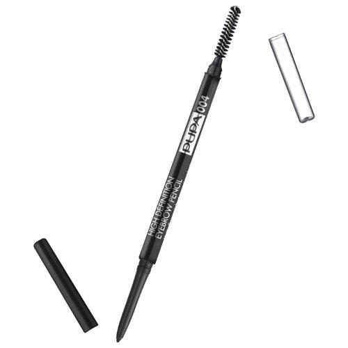 Pupa карандаш High Definition Eyebrow Pensil, оттенок 004, экстра-темныйКарандаши для бровей<br>