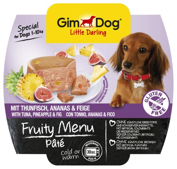 Корм для собак GimDog Little Darling Fruity Menu паштет из тунца с ананасом и инжиром