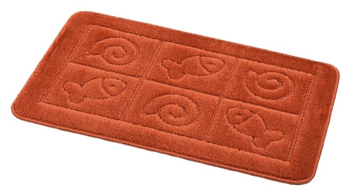 Антискользящий резиновый коврик для ванны, 35х76 см, жёлтый
