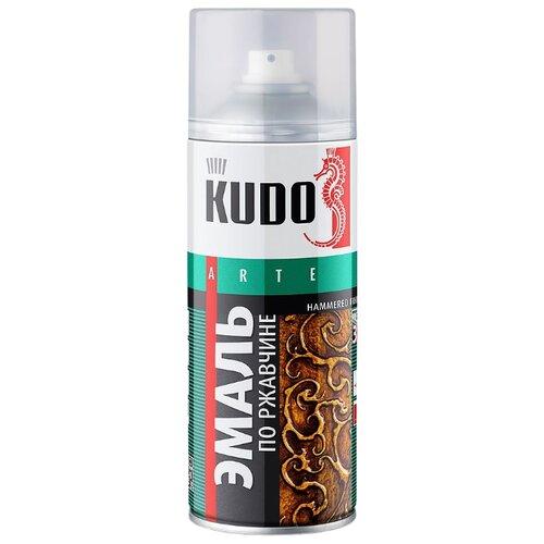 Эмаль KUDO по ржавчине молотковая серебристый 520 мл