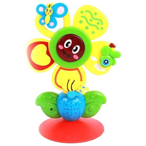 Купить Интерактивная развивающая игрушка Trampulina Цветок со звуком разноцветный, Развивающие игрушки