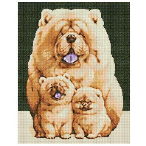 Купить Гранни Набор алмазной вышивки Пушистое семейство (Ag 326) 38х48 см, Алмазная вышивка