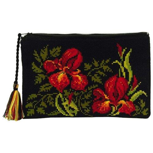 Купить Риолис Набор для вышивания крестом Косметичка Ирисы 20 х 13 см (1679АС), Наборы для вышивания