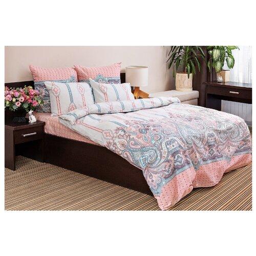 Постельное белье 2-спальное Ночь Нежна Нобле 70 х 70 см сатин розовый/белыйКомплекты<br>