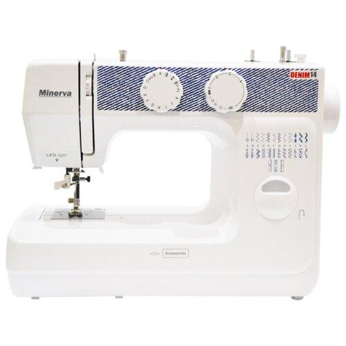 Швейная машина Minerva Denim 14, бело-синийШвейные машины<br>