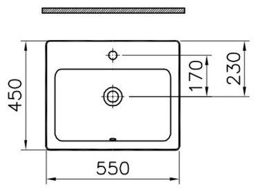 Раковина 55 см VitrA S20 5465