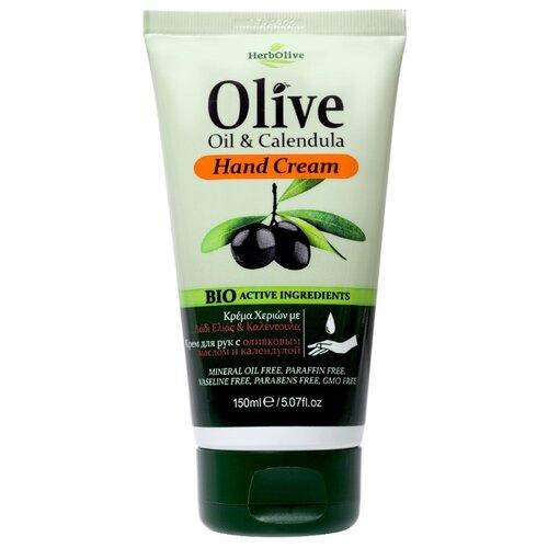 Крем для рук HerbOlive Olive oil & calendula 150 мл крем для рук herbolive herbolive he016lwsjv21