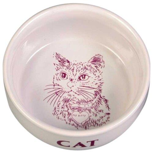 Миска TRIXIE 4010 для кошек 300 мл белый
