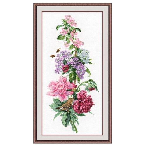 Купить Овен Цветной Вышивка крестом Пионы 19 х 44 см (1000), Наборы для вышивания