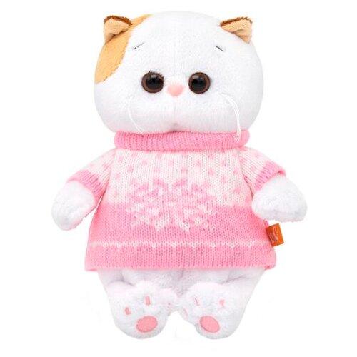 Купить Мягкая игрушка Basik&Co Кошка Ли-Ли baby в свитере 20 см, Мягкие игрушки