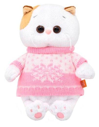 Мягкая игрушка Basik&Co Кошка Ли-Ли baby в свитере 20 см