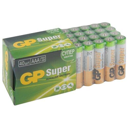 Фото - Батарейка GP Super Alkaline AAA 40 шт блистер батарейки gp super alkaline lr03 30 шт gp 24a b30