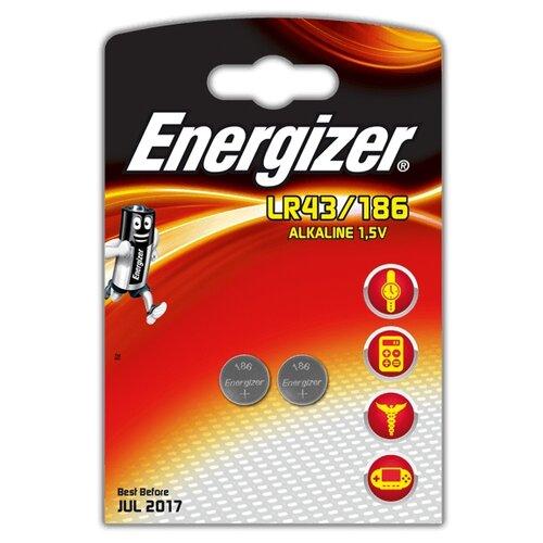 Батарейка Energizer LR43/186 2 шт блистер батарейка energizer cr2032 2 шт блистер