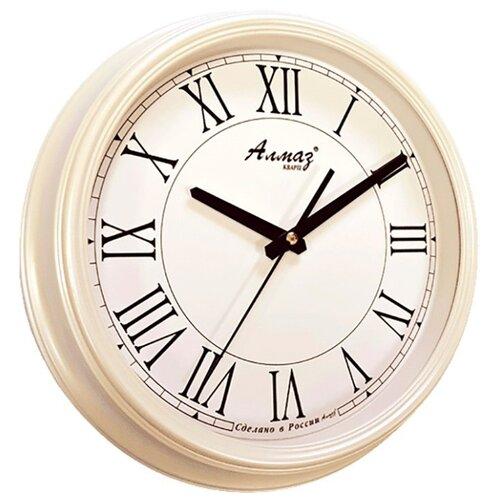 Часы настенные кварцевые Алмаз A16/A17 белый