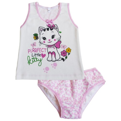 Комплект нижнего белья Sonia Kids размер 92, белый/розовыйБелье<br>