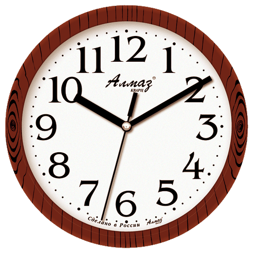 Часы настенные кварцевые Алмаз E03 коричневый/белый часы настенные кварцевые алмаз c51 c54 коричневый белый