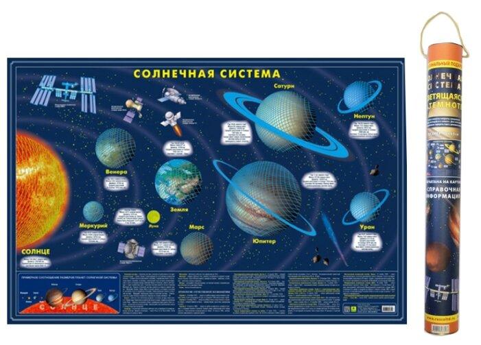 РУЗ Ко Солнечная система светящаяся в темноте в подарочном тубусе (Кр714пт), 90 × 60 см