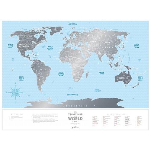 1DEA.me Скретч Карта Мира Silver
