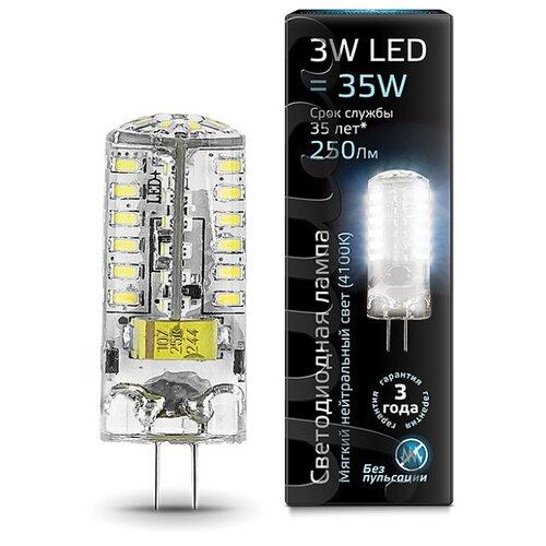 Лампа светодиодная gauss 107707203, G4, JC, 3Вт лампа светодиодная gauss 207707203 g4 jc 3вт