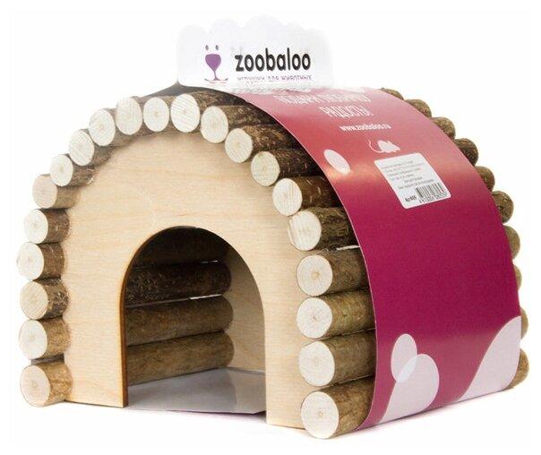 Домик для грызунов, хорьков Zoobaloo Овальный Размер М 18х15х15 см