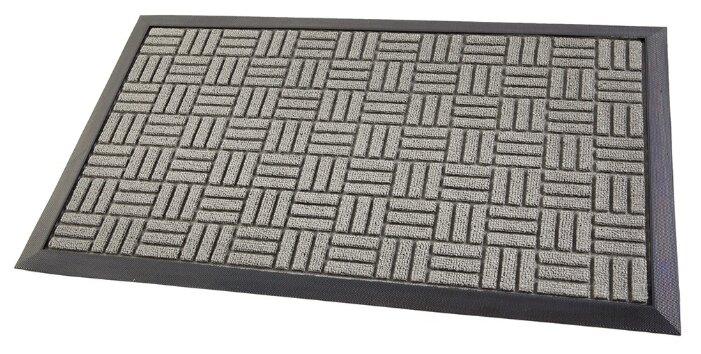 Придверный коврик Eco Floor Квадратики, размер: 0.75х0.45 м, серый