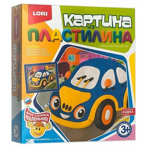 Пластилин LORI Картина из пластилина - Весёлый автомобиль (Пк-004) цена 2017