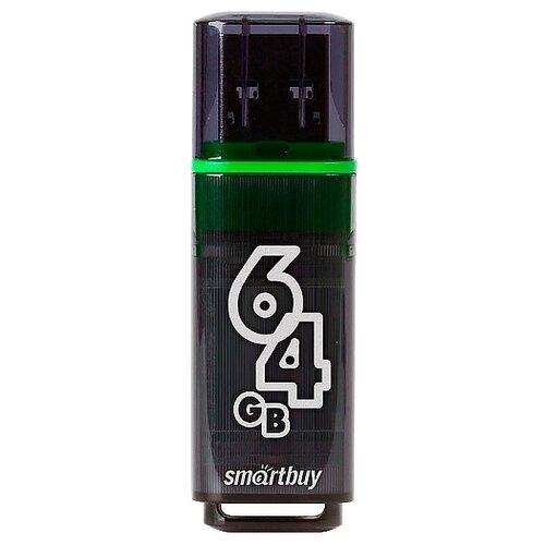 Фото - Флешка SmartBuy Glossy USB 3.0 64 GB, темно-серый флешка smartbuy glossy usb 2 0 32 gb изумрудный