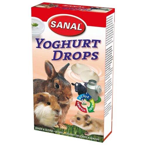 Лакомство для кроликов, грызунов SANAL Yoghurt Drops с йогуртом и витаминами A, C, D, E 45 г