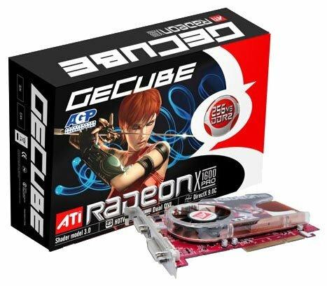 Видеокарта GeCube Radeon X1600 Pro 500Mhz AGP 256Mb 780Mhz 128 bit 2xDVI TV YPrPb