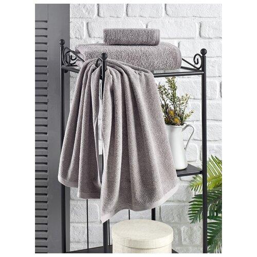 Полотенце махровое Karna. Efor, 70х140 см, цвет серый