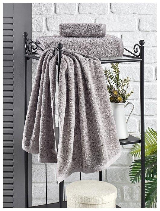 """Полотенце махровое """"Karna. Efor"""", 70х140 см, цвет серый"""