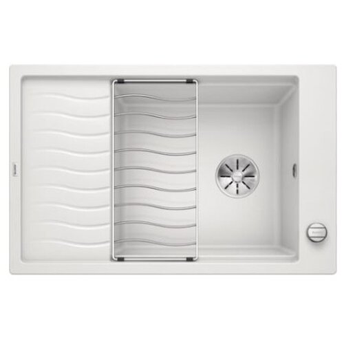 Врезная кухонная мойка 78 см Blanco Elon XL 6S с клапаном-автоматом 524838 белый кухонная мойка blanco elon xl 6s silgranit жасмин с клапаном автоматом