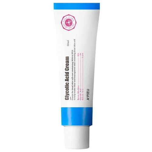 A'PIEU Glycolic Acid Cream Крем для лица с АНА и ВНА кислотами, 50 мл пилинг с ана кислотами