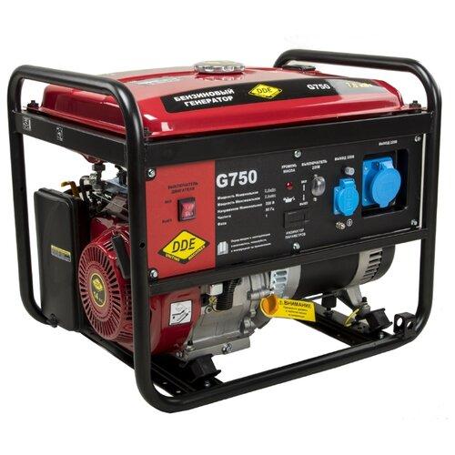 Бензиновый генератор DDE G750 (7000 Вт) бензиновый генератор dde g550e 5000 вт