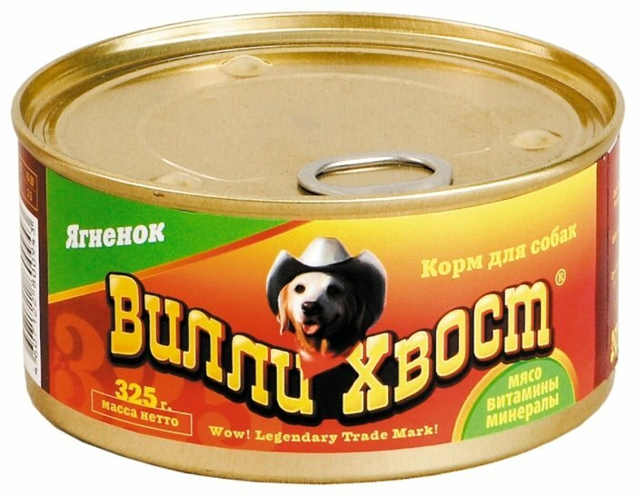 Корм для собак Вилли Хвост Консервы - Ягнёнок (0.325 кг) 1 шт.
