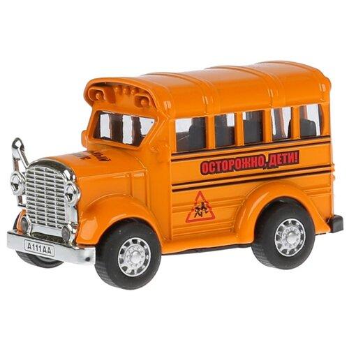 Автобус ТЕХНОПАРК школьный (1405989-R) 8 см оранжевый