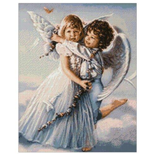 Гранни Алмазная мозаика Ангелочки (ag851) 38x48 см