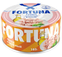 Fortuna Тунец рубленый в масле, 185 г