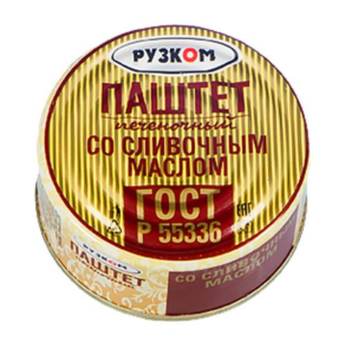 Паштет Рузком печёночный со сливочным маслом Easy Open 117 гПаштеты мясные консервированные<br>