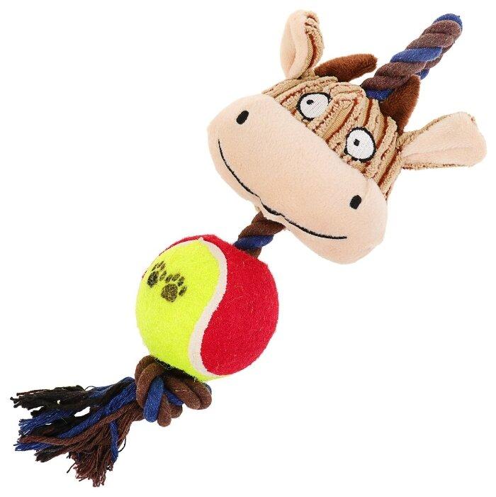 Игрушка для собак Пижон 3 в 1 Корова (3595199)