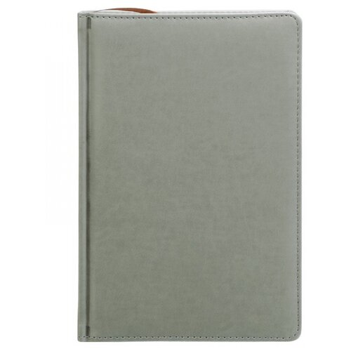 Купить Ежедневник Index Avanti недатированный, искусственная кожа, А5, 168 листов, серый, Ежедневники, записные книжки