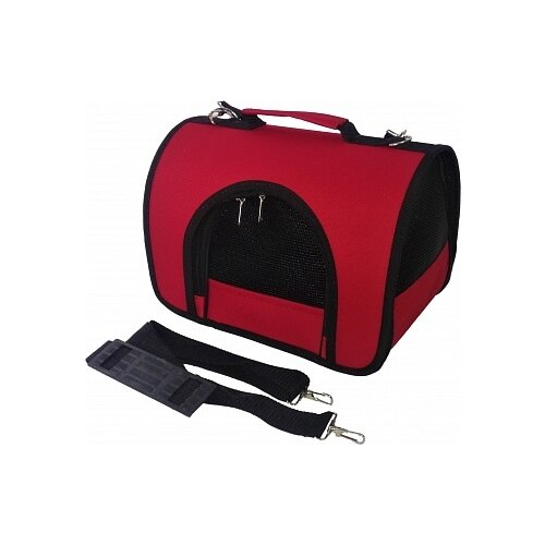 Сумка-переноска для кошек и собак LOORI Z8395/Z8357 46х28х29 см красный