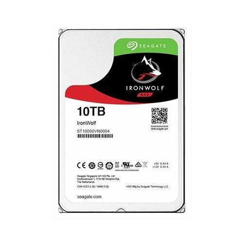 Жесткий диск Seagate IronWolf 10 TB ST10000VN0004 жесткий диск seagate ironwolf 3 tb st3000vn007