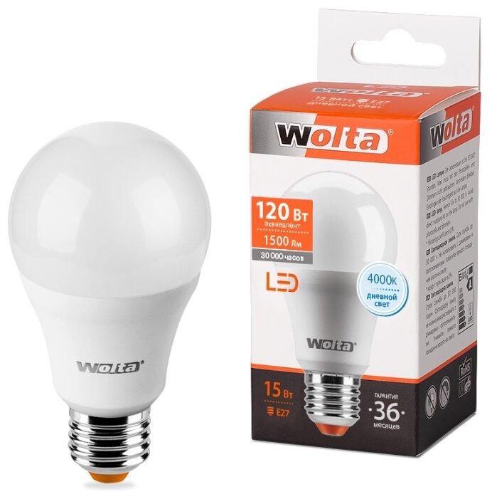 Лампа светодиодная Wolta 25S, E27, A60, 15Вт - Характеристики - Яндекс.Маркет