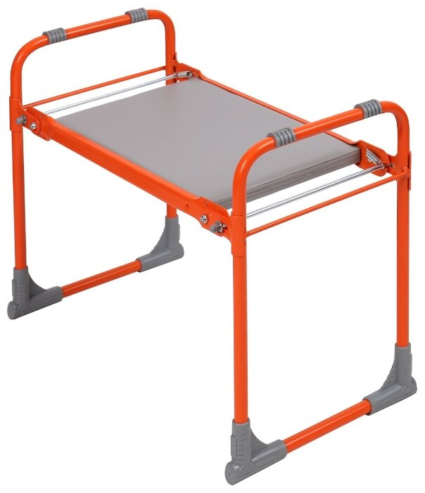 Скамейка Nika садовая с мягким сиденьем (СКМ), оранжевый