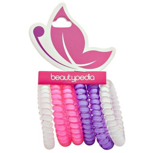 Резинка Beautypedia Спирали 6 шт. фиолетовый/розовый/белый