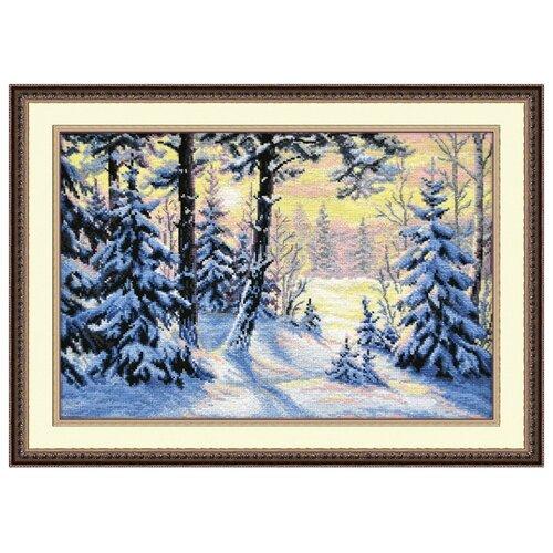 Купить Овен Цветной Вышивка крестом Зимний лес 40 х 27 см (698), Наборы для вышивания