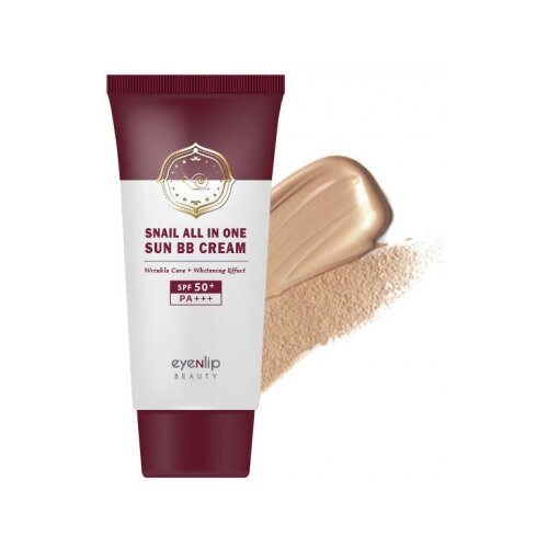 Eyenlip BB крем Snail All in One Sun BB Cream SPF50+ PA+++ 50 мл, оттенок: 23 natural beige